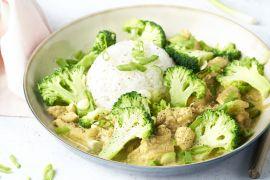 Foto van Kip korma met broccoli en gember
