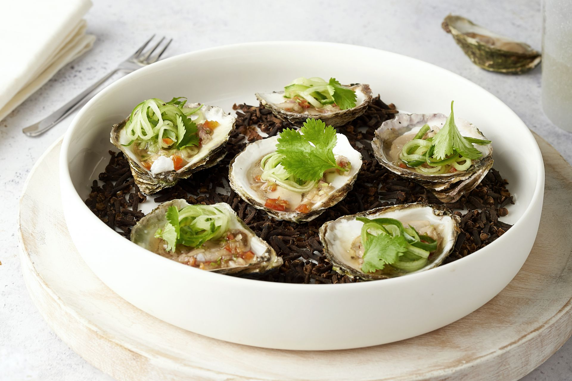 Thai style oesters