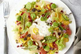 Foto van Citrus-salade met burrata
