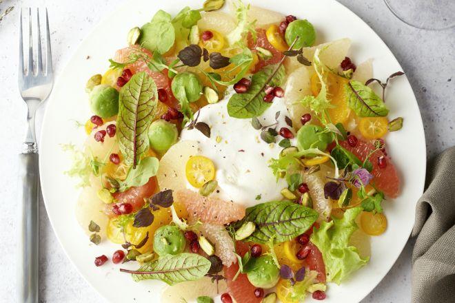Citrus-salade met burrata