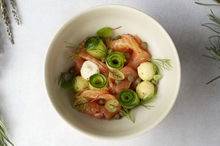 Gravad lax in limoncello