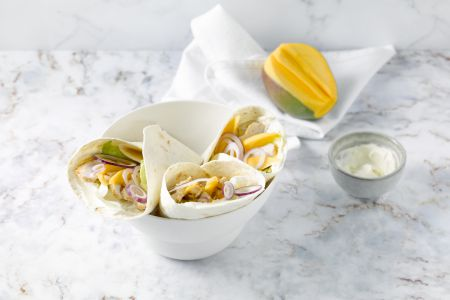 Wrap met kip en mango