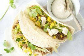 Foto van Taco's met gehakt en paprikasalsa