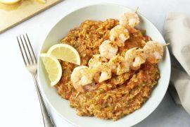 Foto van Scampi brochette met Spaanse rijst