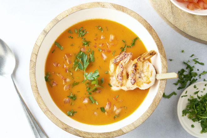 Scampi diabolique soep