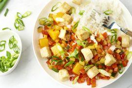 Foto van Krokante tofu in zoetzure saus