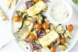Foto van Ovenschotel met geroosterde groenten en grillkaas