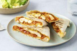 Foto van Barbecue burrito's met gemarineerde kip