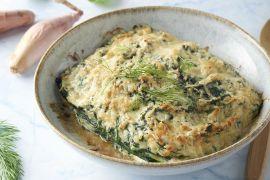 Foto van Courgettelasagne met gerookte zalm en spinazie