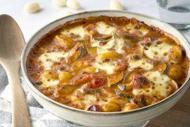 Foto van Romige ovenschotel met groenten, mozzarella en gnocchi