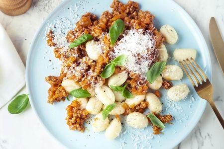 Gnocchi met snelle ragusaus