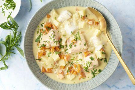 Fins stoofpotje met vis, wortel en pastinaak
