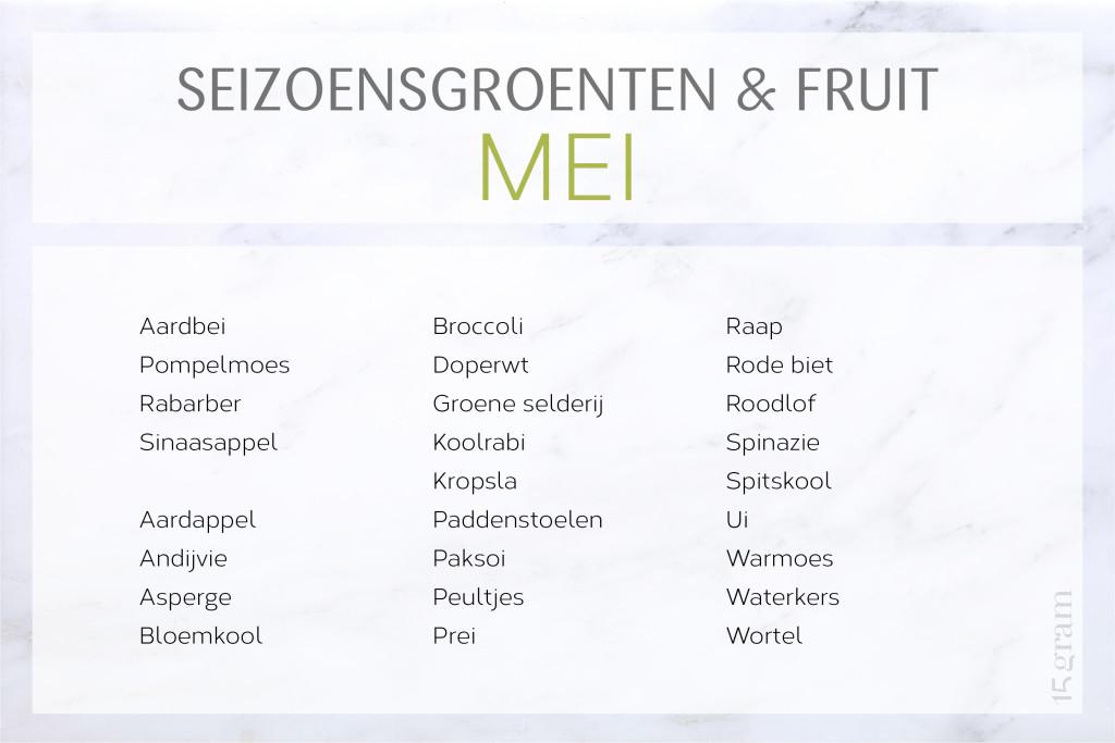 De lekkerste seizoensgroenten en fruit voor mei