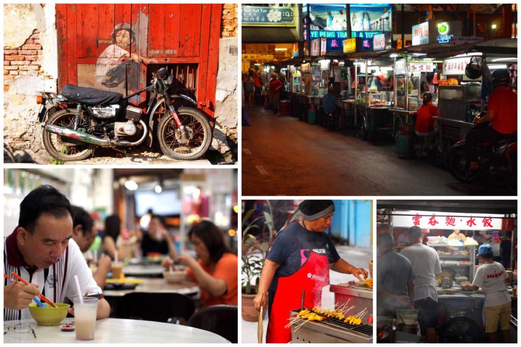 Street art en street food in Georgetown, Penang