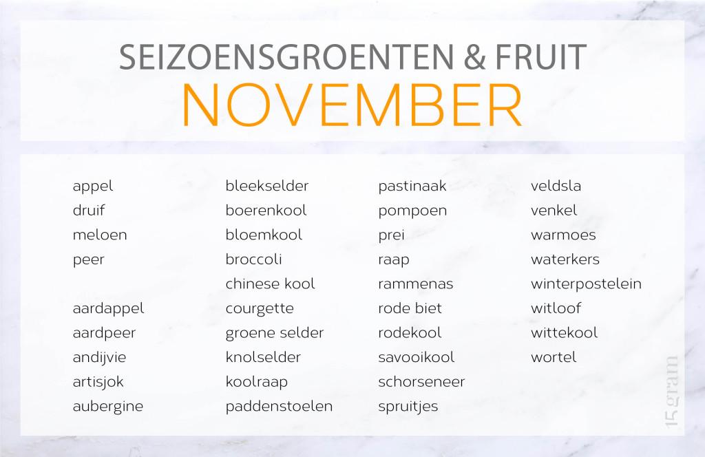 seizoensgroentenenfruit_november