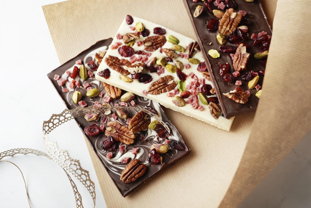 Zelfgemaakte chocolade bars
