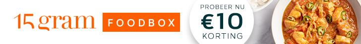 Probeer nu de 15gram Foodbox met 10 euro korting!