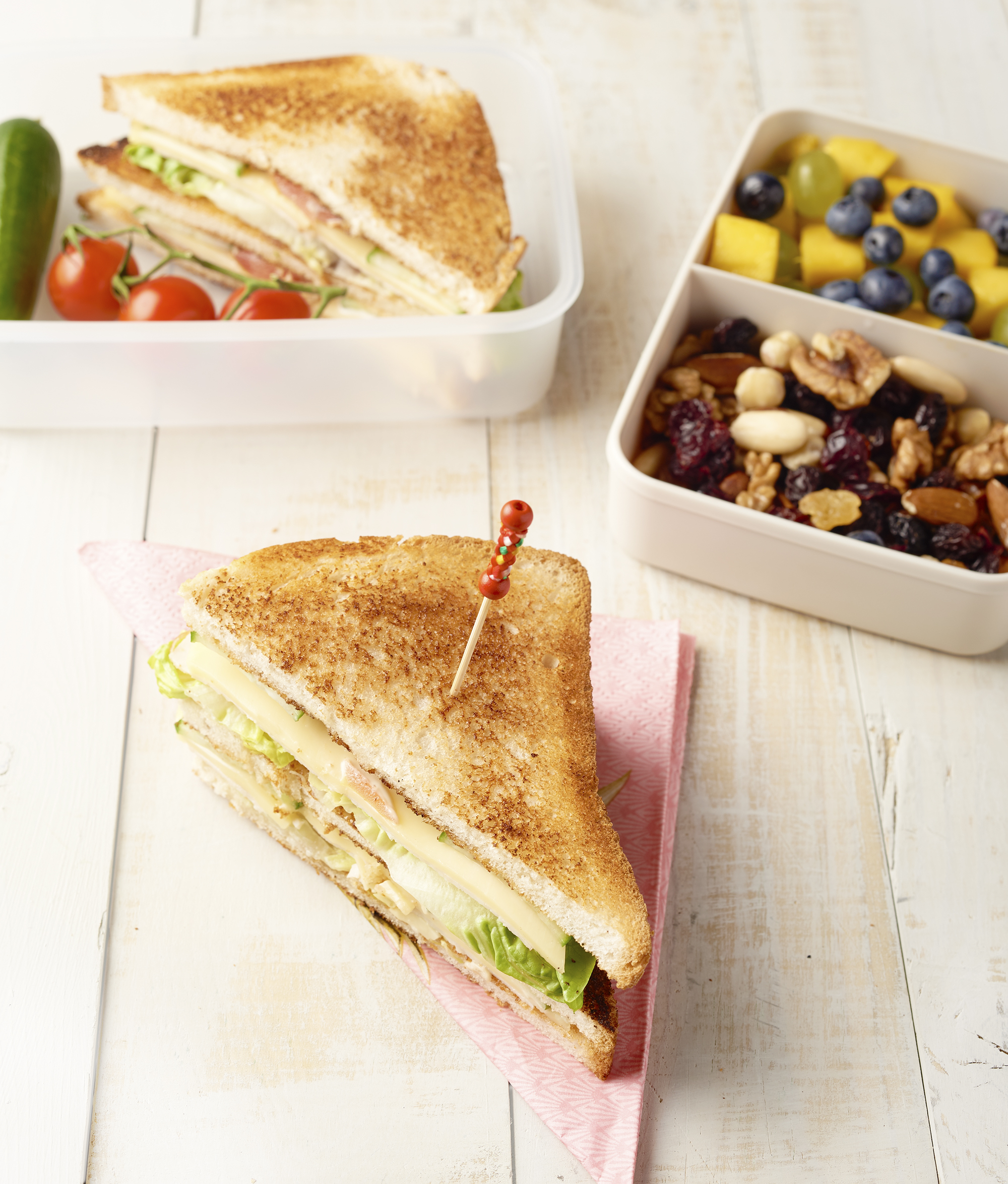 Club sandwich lunchbox